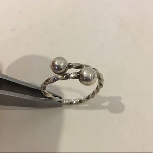 Sterling silver adjustable size textured ring